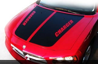 Dodge Charger Hood Stripes Decal Kit Pre cut 2006 2007 2008 2009 2010