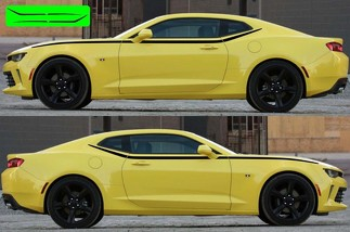 Side Upper Accent Spear Graphics Decals Stripes for Chevy Camaro 2016 - 2018