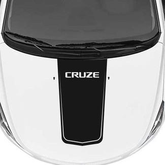 Chevrolet Chevy Cruze - Rallye-Rennstreifen-Hauben-Grafik-Cruze-Beschriftung
