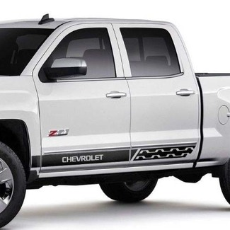 Chevrolet Silverado mk3 side stripes graphics  decal door panel decal black vinyl