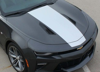 Hood Center Vinyl Graphics Decals Stripes for Camaro 2016 - 2018