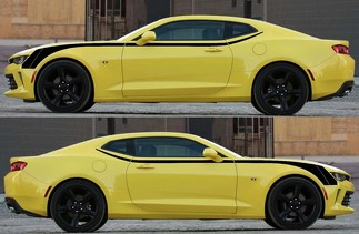 Hockey Upper Accent Graphics Decals Stripes for Camaro 2016 - 2018