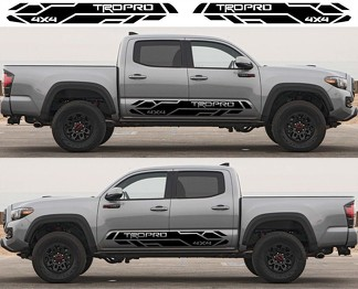 2X Toyota Tacoma 2016- 2020 Trd Pro side skirt Vinyl Decals graphics rally sticker kit
