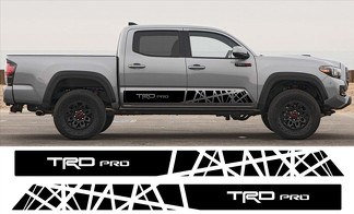 2x Toyota Tacoma 2016  Trd Pro side skirt Vinyl Decals graphics rally sticker kit