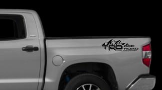 TRD Off Road Mountains Aufkleber Toyota Tundra LKW-Ladefläche Vinyl Aufkleber X2