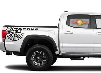 Toyota Tacoma TRD compass side bed graphics decal sticker