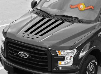 2015-2018 Ford F-150 USA hood graphics stripe decal Ford Performance