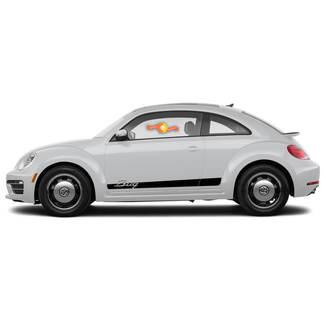 Volkswagen Beetle 2011-2018 Stripe Graphics Decals Bug Porsche Stil