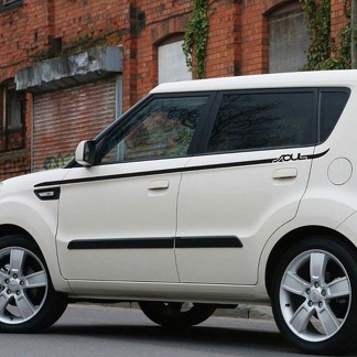 Side Rocker Panel Stripes graphics Decals for Kia Soul 2008- 2013