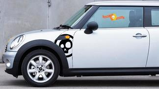 BMW Mini Cooper R55 R56 R57 A Panel Skull Decal Sticker Graphics