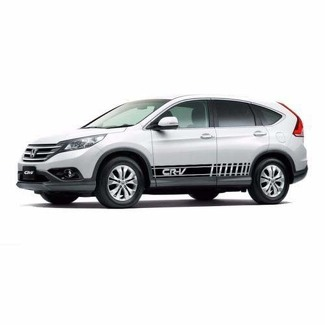 2X Multiple Color Graphics Strip Car Racing Vinyl Decal Sticker for Honda CR-V