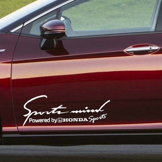 2X Multiple Color Sports Mind Power for Honda Vinyl Decal Sticker