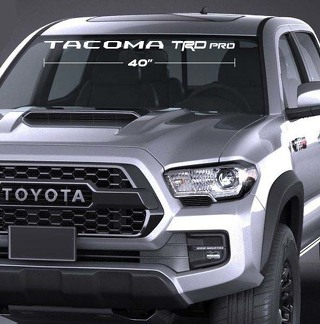 TOYOTA TACOMA TRD PRO WINDSHIELD DECAL 4x4 Suv Truck