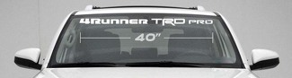 TOYOTA 4RUNNER TRD PRO WINDSHIELD DECAL 4x4 Suv Truck