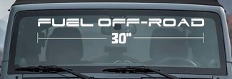 FUEL OFFROAD WINDSHIELD DECAL Wheels Truck 4x4 Car Suv JEEP Toyota - SELECT SIZE