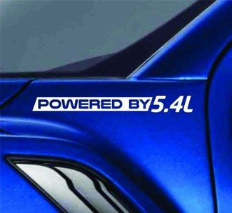 Powered By 5.4L Sticker Vinyl Decal Truck Fender Decal fits Ford F150 F250 F350
