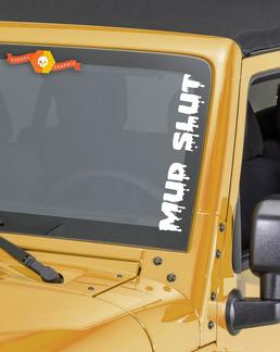 Mud Slut Funny Windshield Sticker Banner Vinyl Decal Off Road Truck For Jeep 4x4