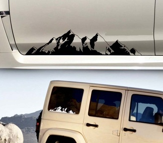Mountain decal Sticker car truck suv camper door body graphic window windshield vinyl custom personalized forest Nature