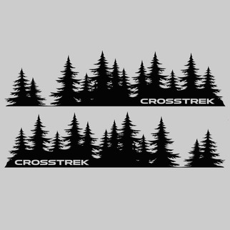 Subaru Crosstrek tree Decal custom vinyl Door graphic Forest  Silhouette Tree sticker