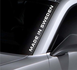 Made In Sweden Windshield Sticker Vinyl Window Decal Car Sticker Fits Volvo Saab