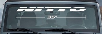 NITTO TIRE WINDSHIELD DECAL VINYL LETTERING