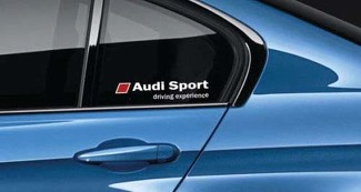 Audi Sport Decal Sticker S4 S3 S5 RS7 Driving Experience RS3 TTRS RED Pair