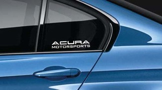 Acura Motorsports Decal Sticker logo RSX TSX TLX MDX RDX NSX Integra Pair