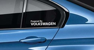 Powered By VW Decal Sticker GTI Golf R Passat Jetta Turbo 4 motion Pair