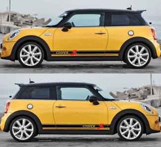 2X Mini Cooper S Side Stripe Decals Stickers 2014-2018
