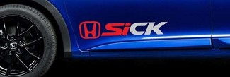 Civic Si Sick Honda Vinyl Decal Racing Sticker JDM EK Door B