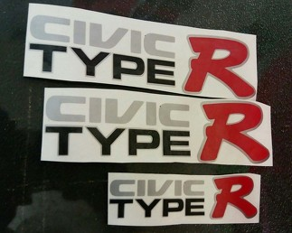 HONDA JAPAN CIVIC BLACK EK9 variation CIVIC TYPE R DECAL sticker OEM size