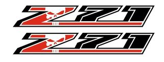 2 Chevy Silverado NEW STYLE Z71 4x4 GMC GM Sierra Decals Stickers F 1500 2500 Punisher Skull 2 colors