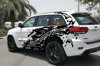 Jeep Grand Cherokee TrackHawk Splash Grunge Stripes Kit Vinyl Decal Graphic