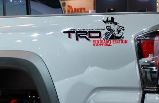 Pair of TRD Red Dead Redemption Edition bed side decals stickers 2 colors Toyota Tacoma Tundra FJ