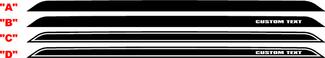 2008 - 2014 Dodge Challenger Spoiler Blackout Decal Kit