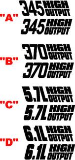 2008 & Up Dodge Challenger 1970 Retro Fender Accent Decal Kit im T / A-Stil