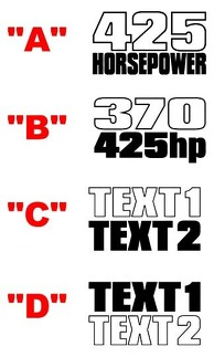 2008 & Up Dodge Challenger 1970 T/A Style Fender Accent Decal Kit