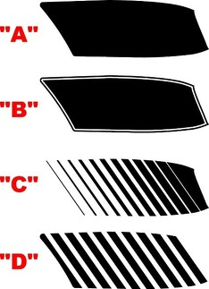 2015 & Up Dodge Challenger HELLCAT Hood Vent Insert Stripe Kit