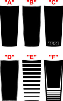 2015 & Up Dodge Challenger SXT / RT / GT-AWD Wide Center Hood Decal Kit