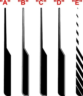2015 & Up Dodge Challenger SXT / RT / GT-AWD Hood Spear Accent Stripe Kit