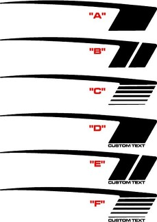 2010 - 2015 Chevrolet Camaro COPO Style Hockey Stripe Kit