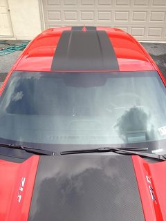 2010 & Up Chevrolet Camaro ZL1 Style Hood, Roof, Trunk & Spoiler Stripe Kit