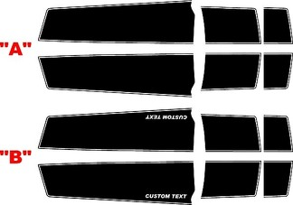 2010 - 2015 Chevrolet Camaro Convertible Concept Style Extended Length  Rally Stripe Kit