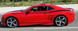 2010 - 2015 Chevrolet Camaro Full Upper Side Devil Tail Accent Stripes