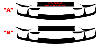 2010-2013 Chevrolet Camaro Rear Trunk and Fascia Blackout Decals kit