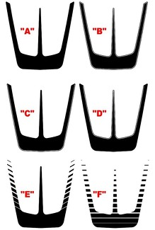 2011 - 2014 Charger Hood Main Scallop Decal Kits