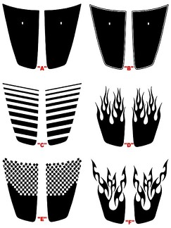 2011 - 2014 Charger Hood Blackout Panel Decal Kits