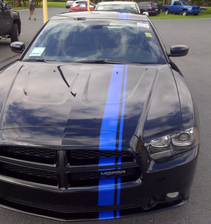 2006 & Up Dodge Charger Offset Style Rally Stripe Kit