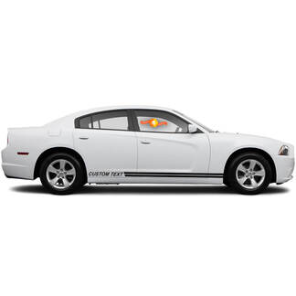 2011 - 2014 Charger Rally Style  Rocker Panel Stripe Kits