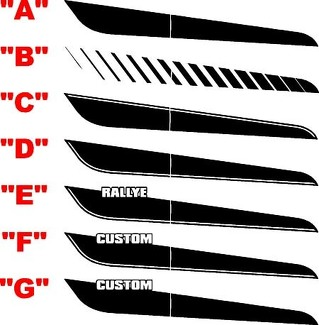 2013 & Up Dodge Dart Full Upper Bodyline Stripe Kit